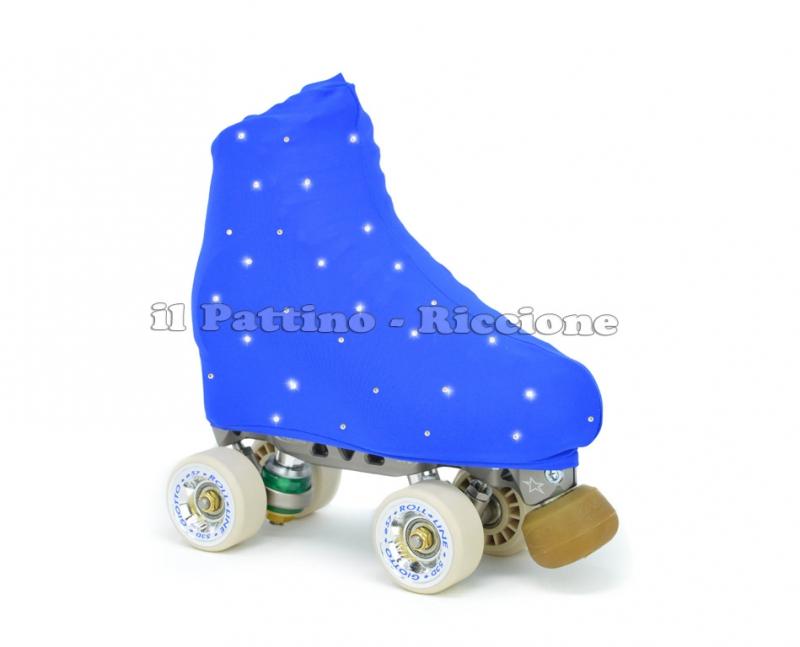 Cubre patines color azul con strass