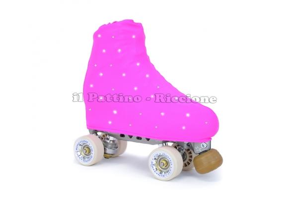 Cubre patines color fucsia con Strass