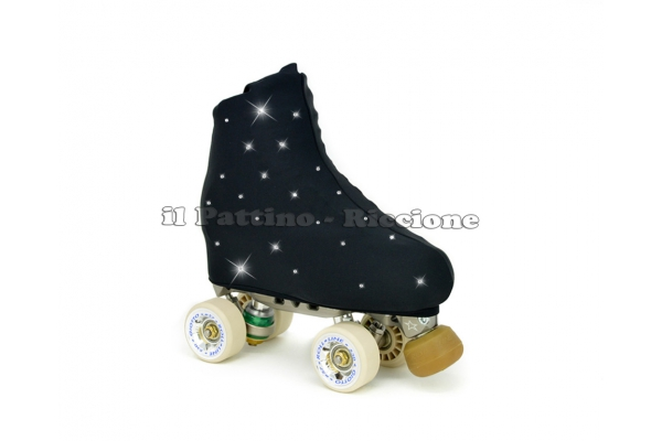 Cubre patines color negro con Strass