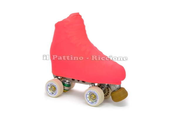 Cubre patines color pesca fluo