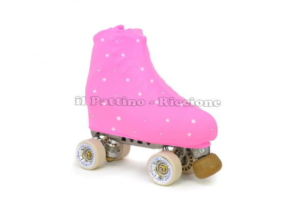 Cubre patines color rosa con Strass