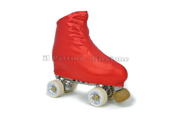 Cubre patines color rojo metalizado