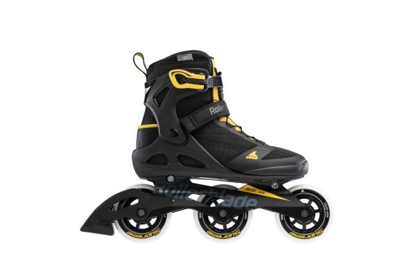 Patines en línea Rollerblade Macroblade 100 3WD negro / amarillo