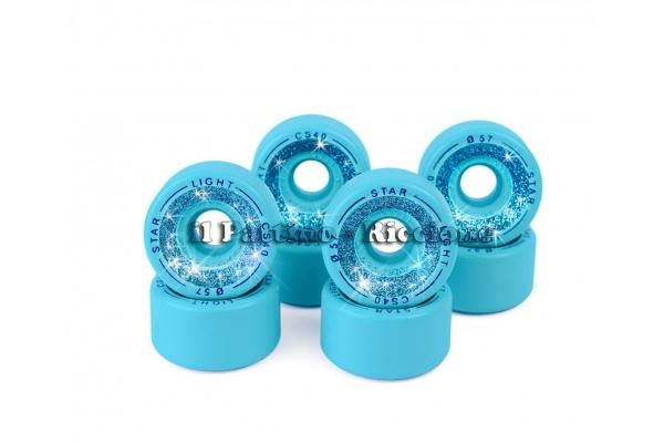 Ruedas Star Boiani con Glitter CS 40 diam. 57 mm Azul