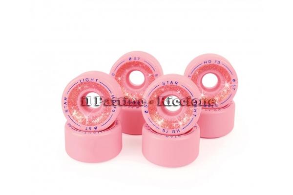Ruedas Star Boiani con Glitter HD 70 diam. 57 mm Rosa
