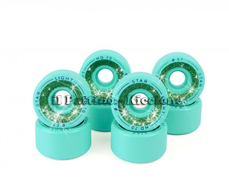 Ruedas Star Boiani con Glitter HD 70 diam. 57 mm Verde