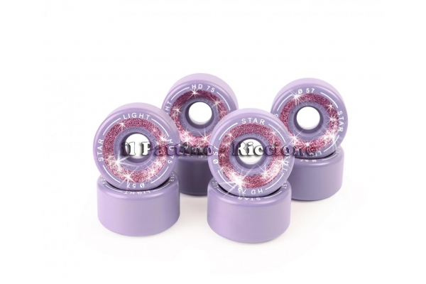 Ruedas Star Boiani con Glitter HD 75 diam. 57 mm Violeta